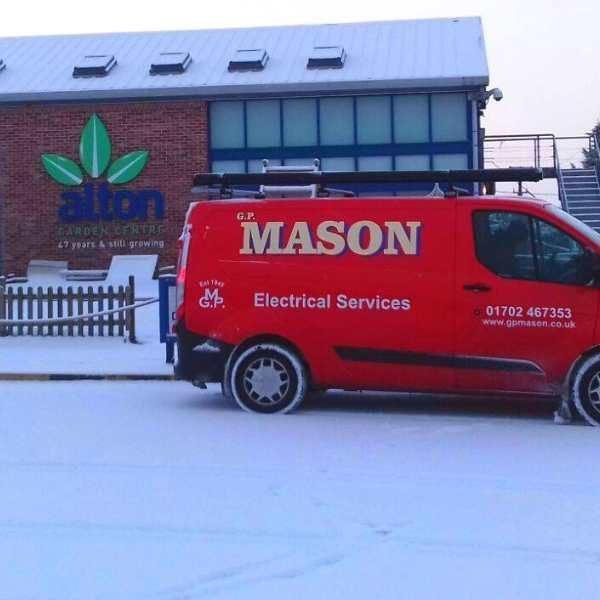 commercial electrical contractors for garden centres in Southend essex